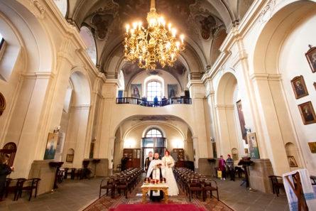 Венчание в храме Cв. Кирилла и Мефодия